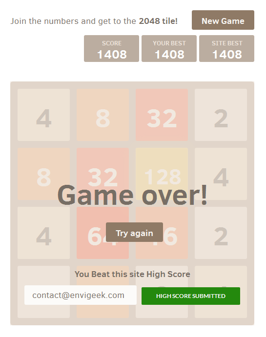 2048-number-game screenshot 1