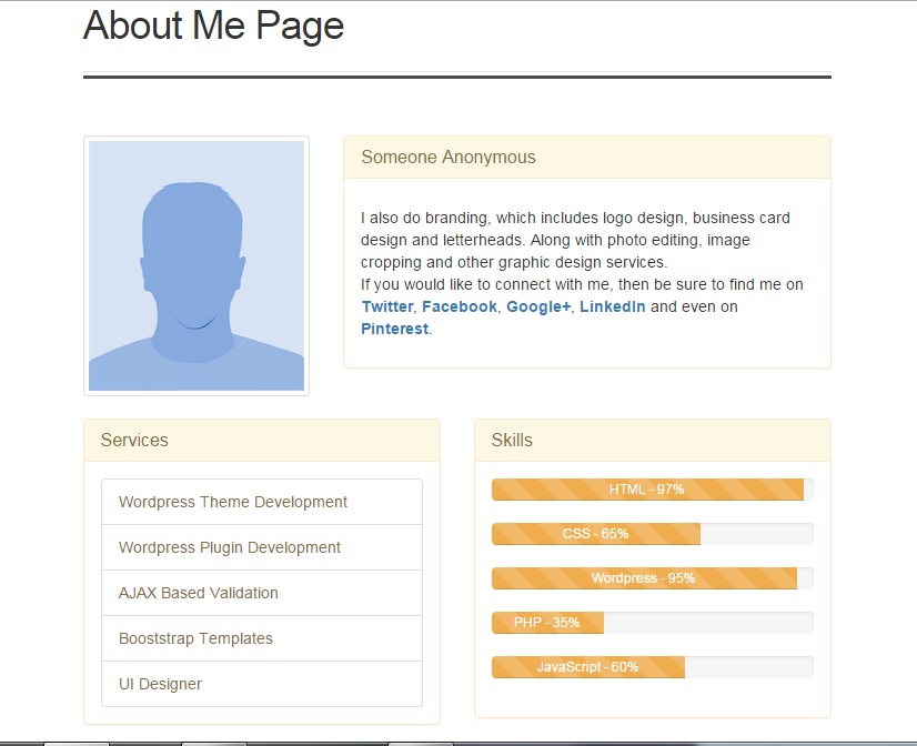 about-me-page screenshot 2