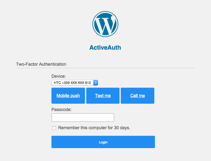 active-auth screenshot 1
