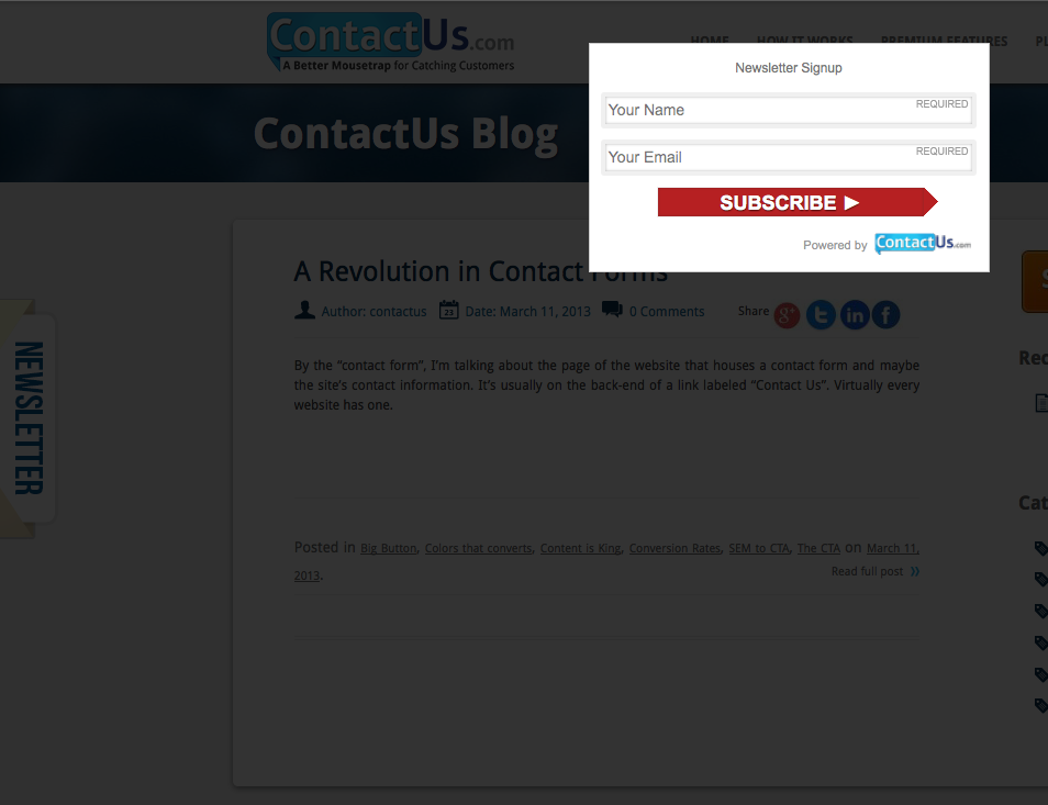 activecampaign-form screenshot 2