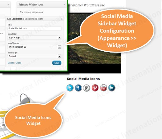 acurax-social-media-widget screenshot 2