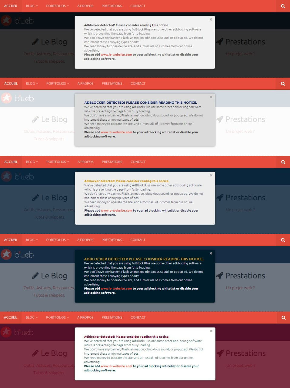 Adblock Notify Screenshot
