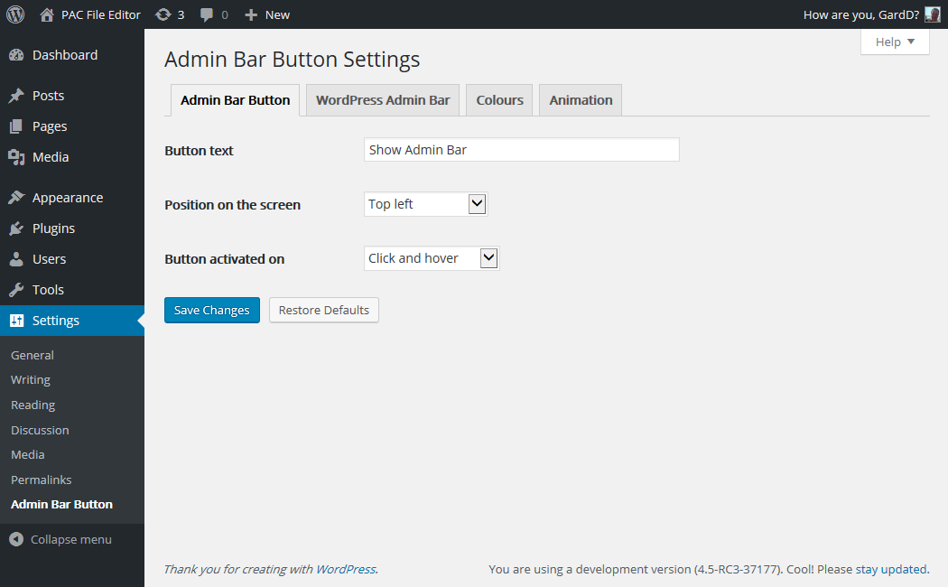 admin-bar-button screenshot 3