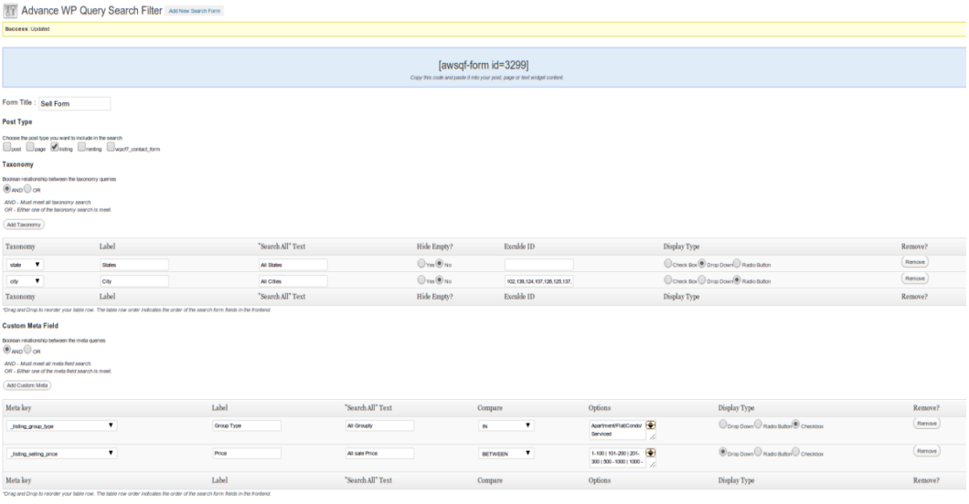 advance-wp-query-search-filter screenshot 1