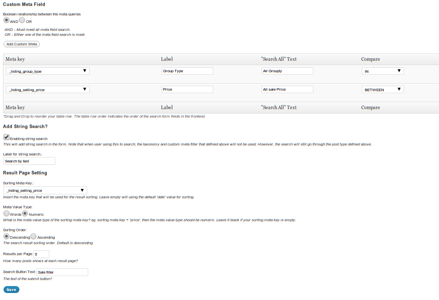 advance-wp-query-search-filter screenshot 2
