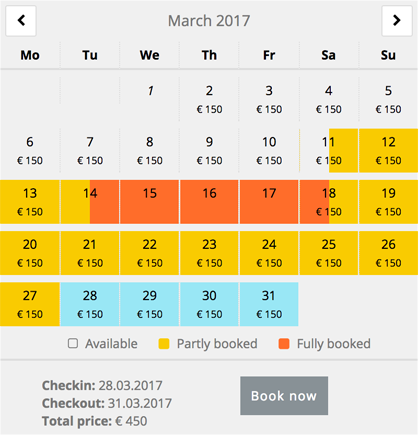 advanced-booking-calendar screenshot 2