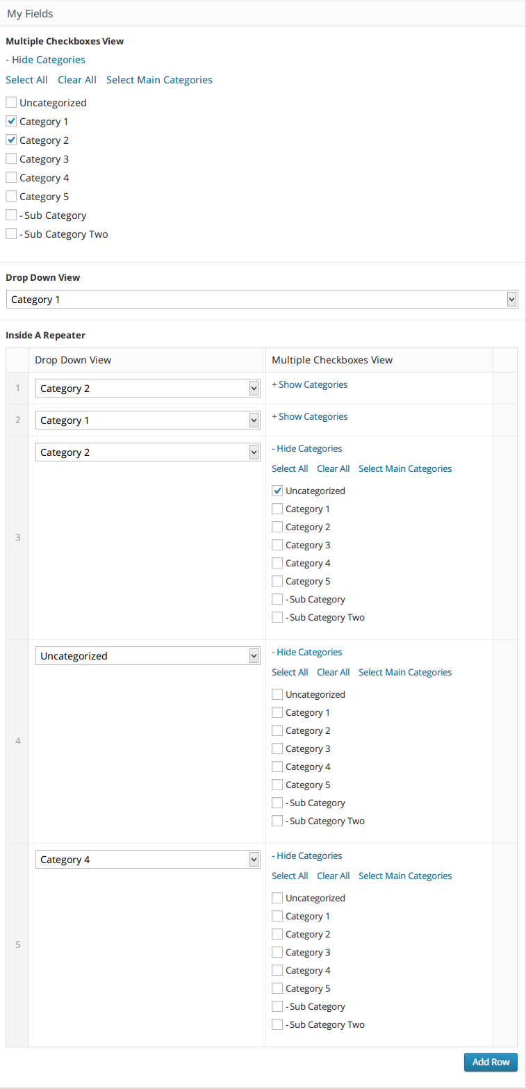 advanced-custom-fields-categories screenshot 2