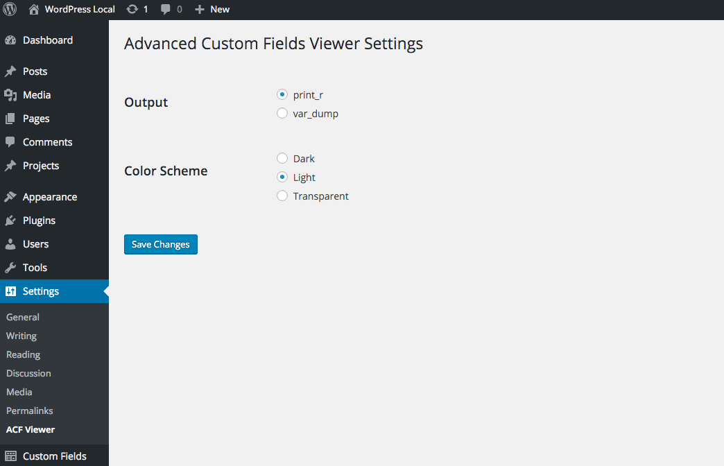 advanced-custom-fields-viewer screenshot 1