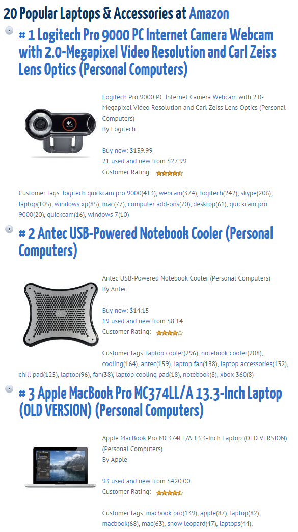 amazon-product-feeder screenshot 1