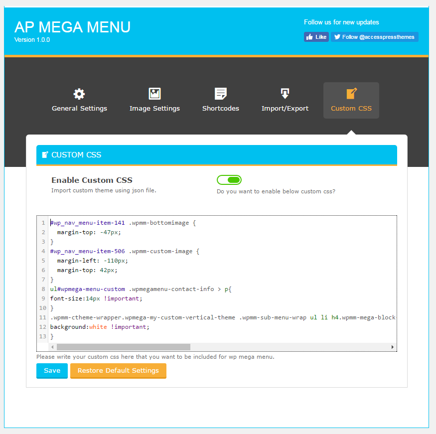 ap-mega-menu screenshot 5