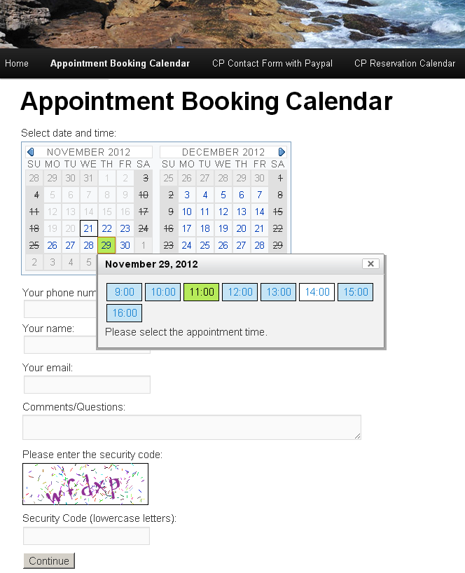 appointment-booking-calendar screenshot 1