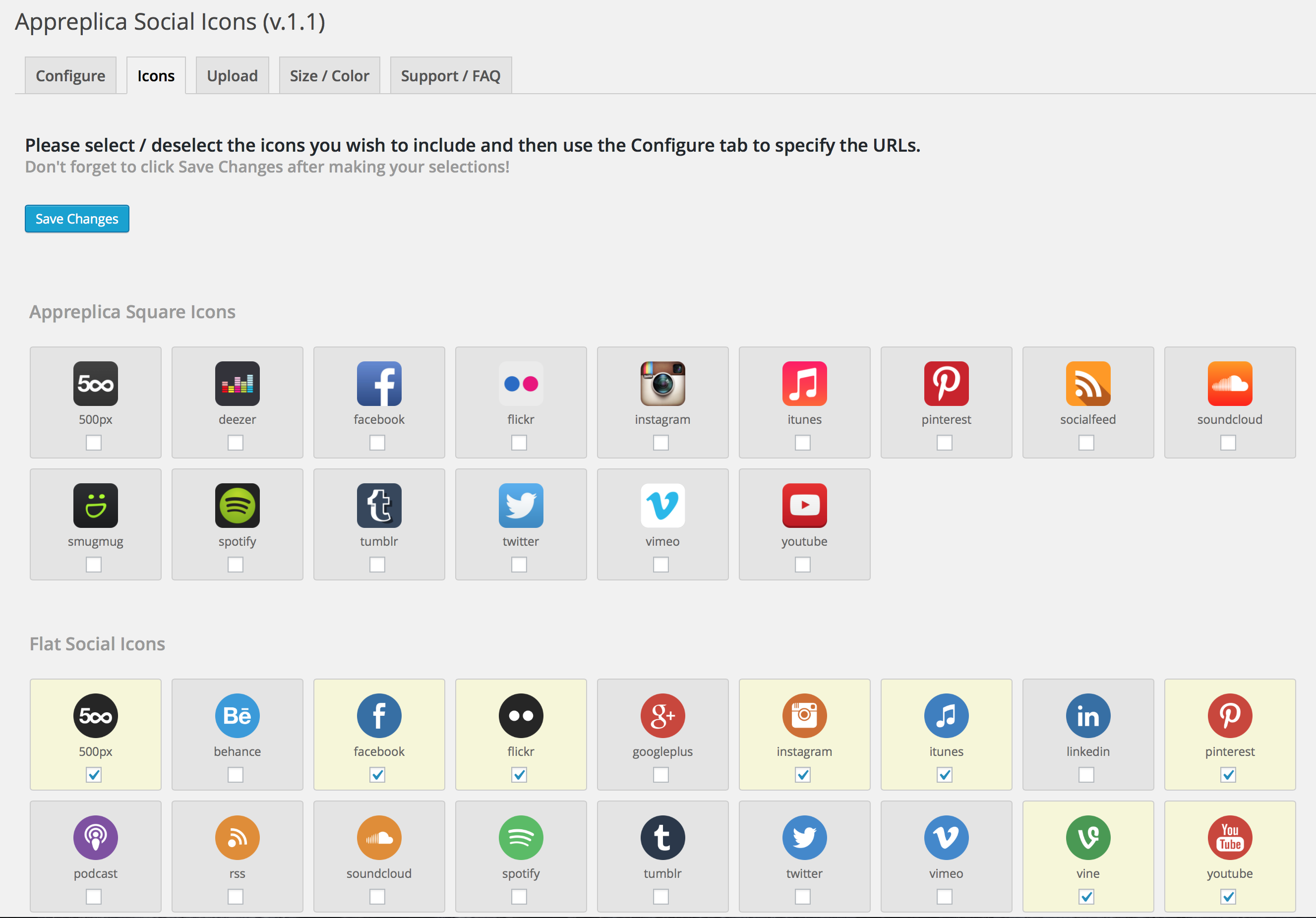 appreplica-social-icons screenshot 1