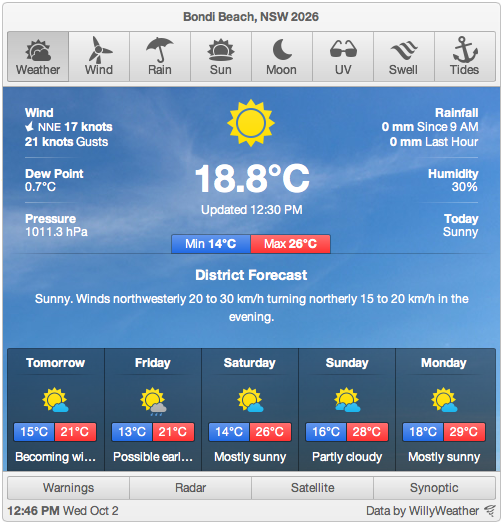 australian-weather-widget-willyweather screenshot 4