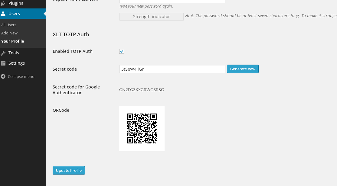 auth-using-google-authenticator screenshot 1