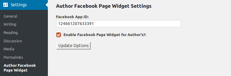 author-facebook-page-widget screenshot 3