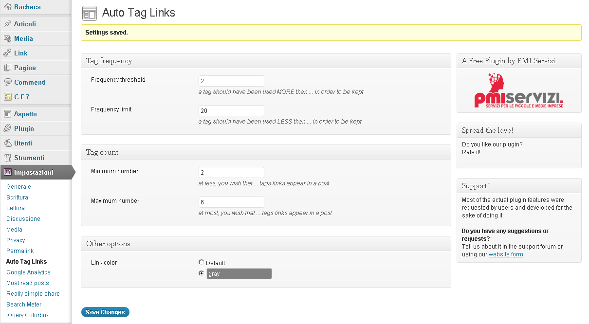 auto-tag-links screenshot 1