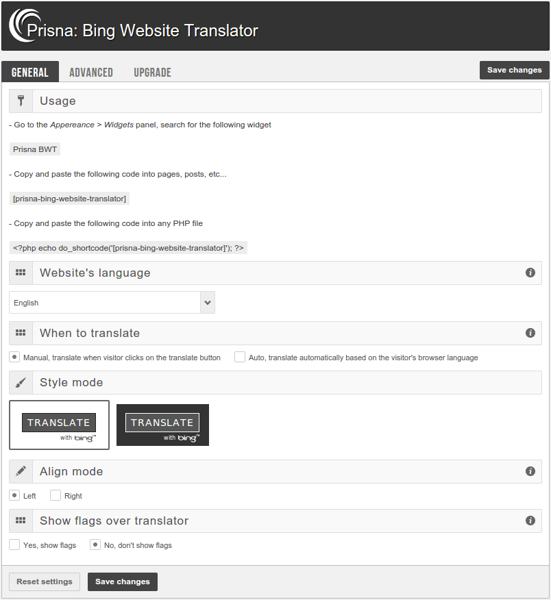 bing-website-translator screenshot 1