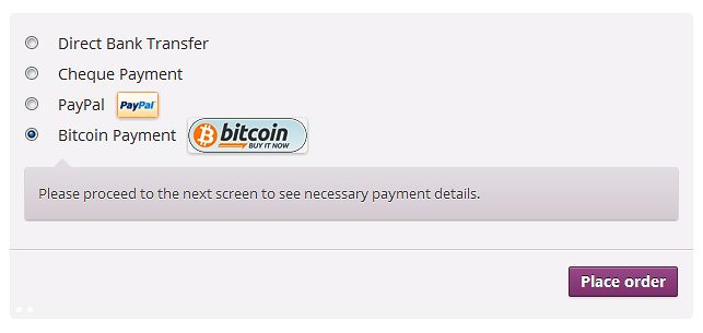 bitcoin-payments-for-woocommerce screenshot 1