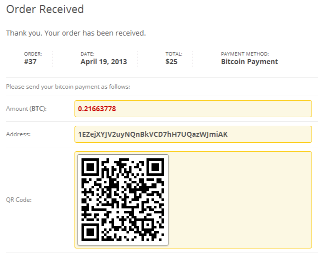 bitcoin-payments-for-woocommerce screenshot 2