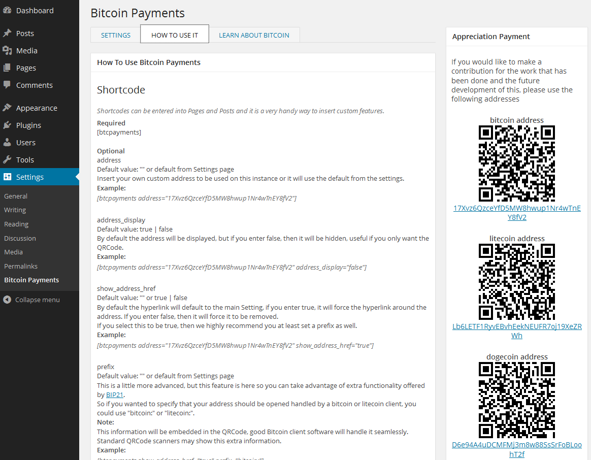 bitcoin-payments screenshot 2