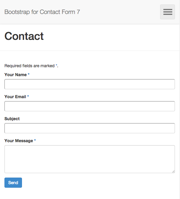 bootstrap-for-contact-form-7 screenshot 1