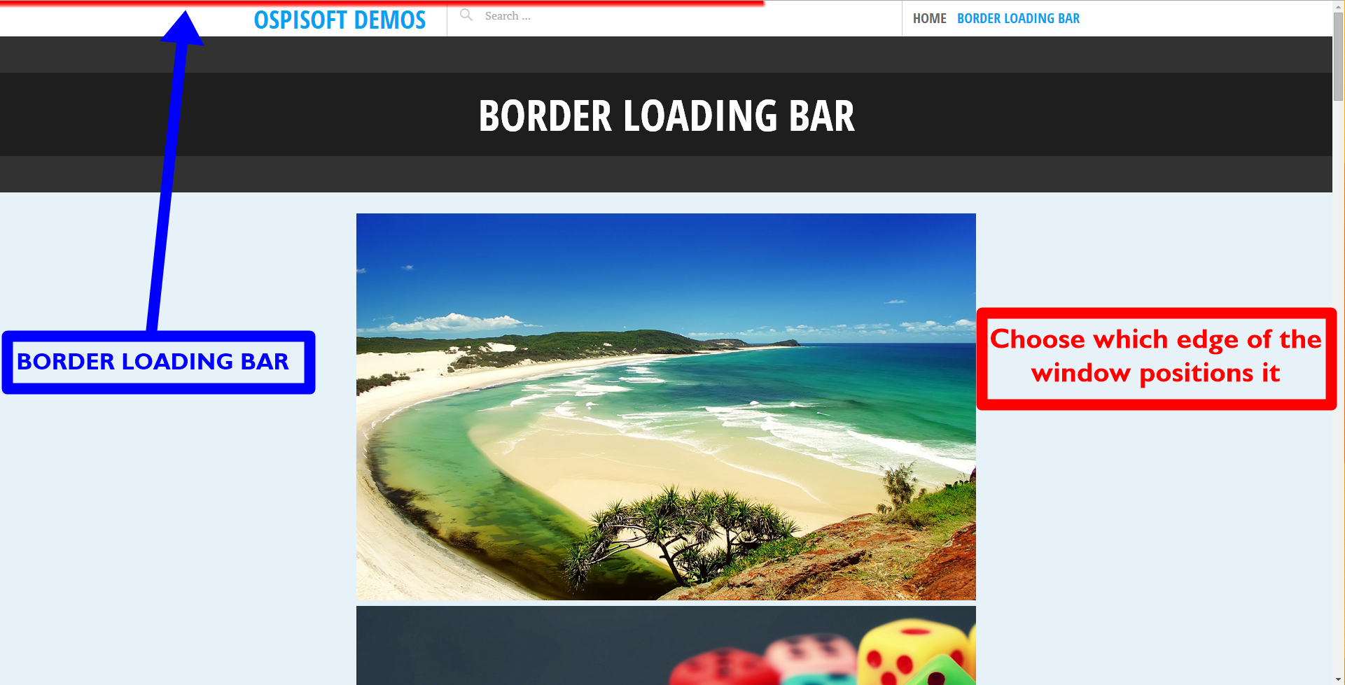 border-loading-bar screenshot 2