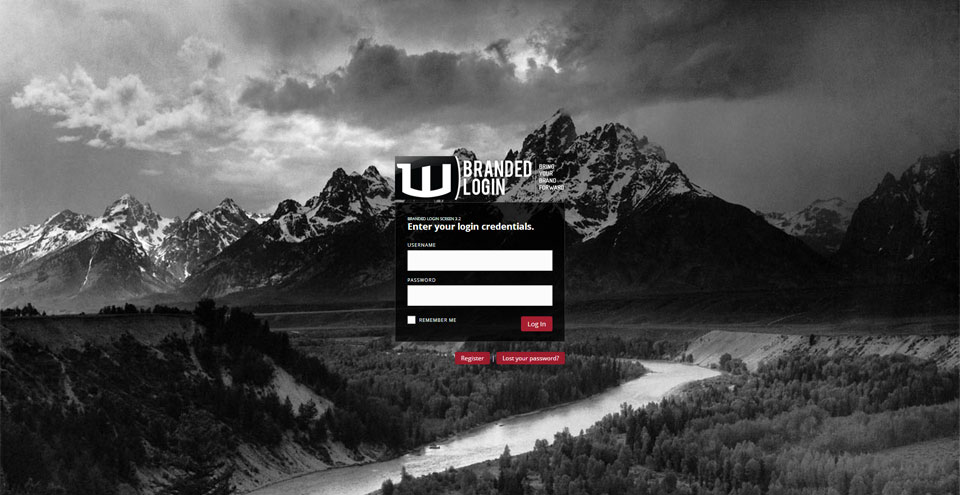 branded-login-screen screenshot 2
