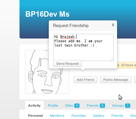 buddypress-extended-friendship-request screenshot 1