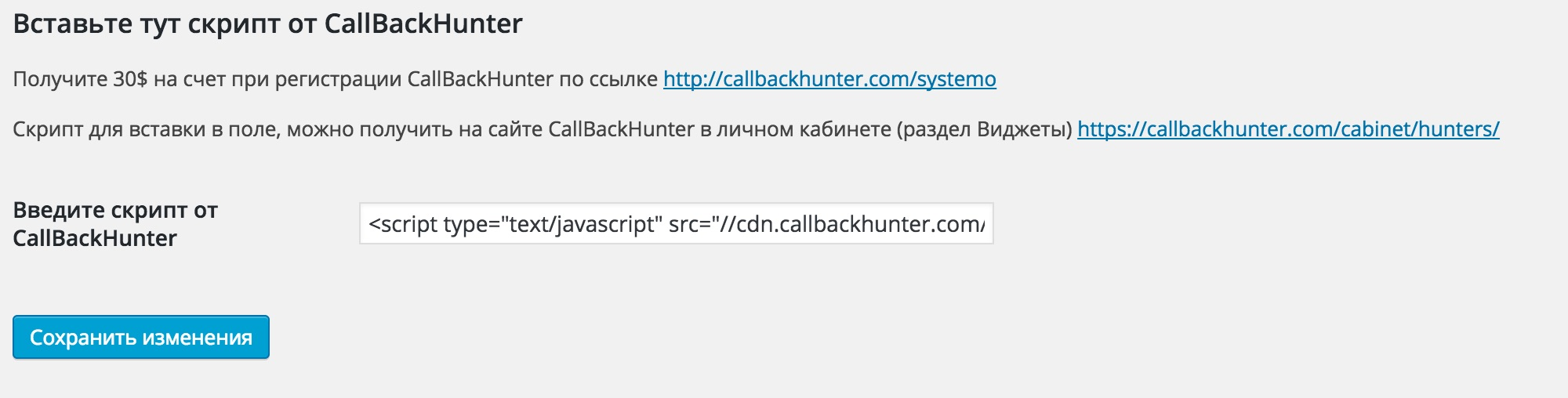 callback-widget screenshot 1