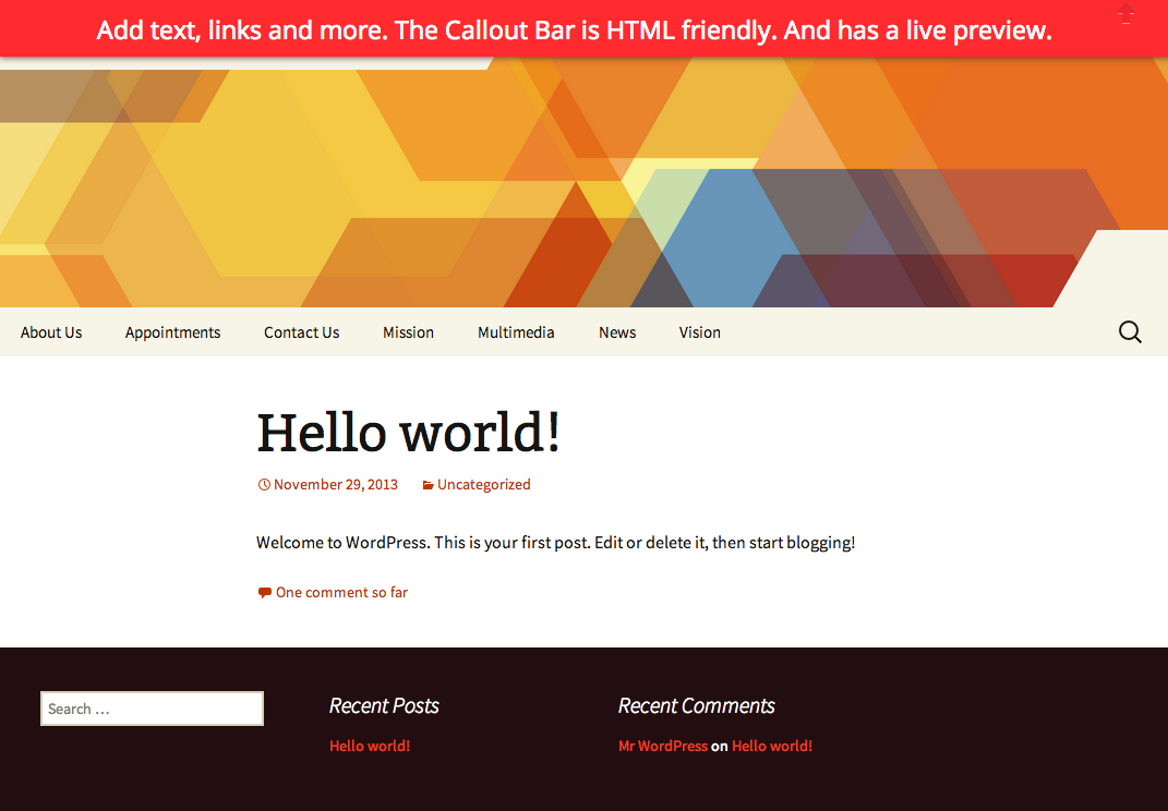 callout-bar screenshot 1