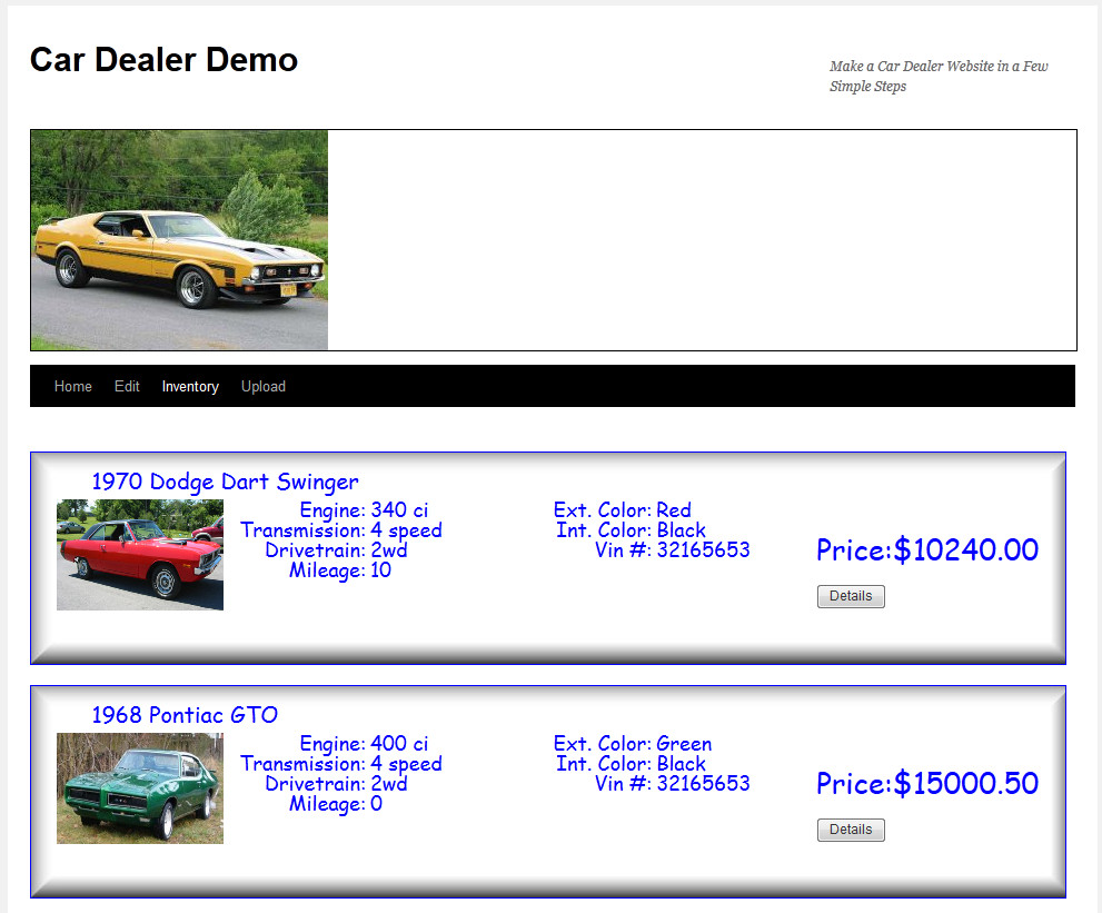 car-dealer screenshot 2