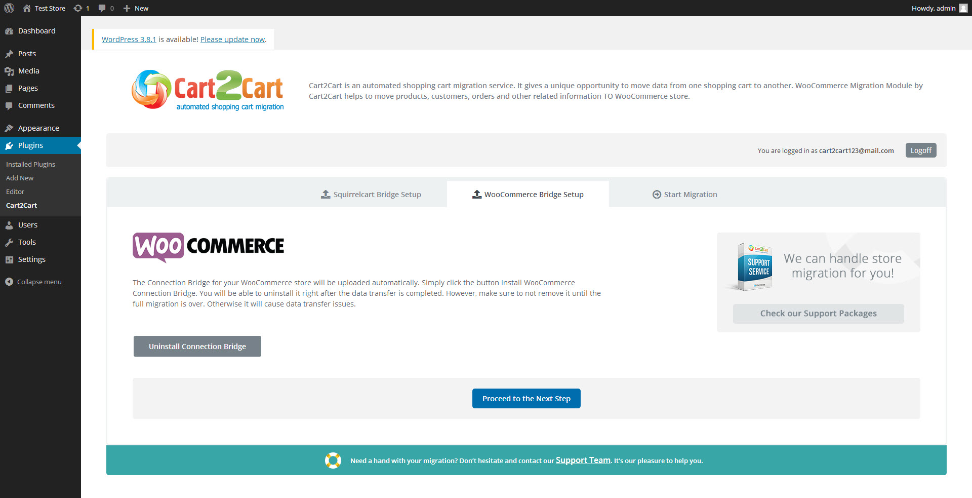 cart2cart-squirrelcart-to-woocommerce-migration screenshot 2