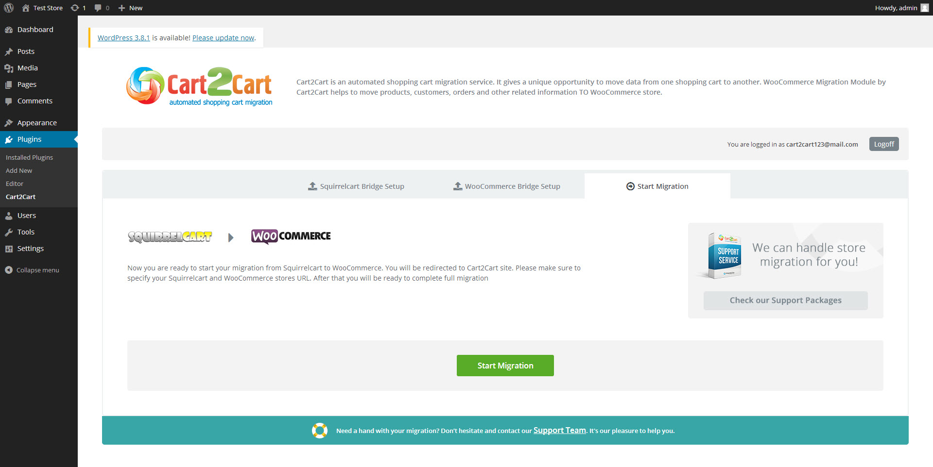 cart2cart-squirrelcart-to-woocommerce-migration screenshot 3