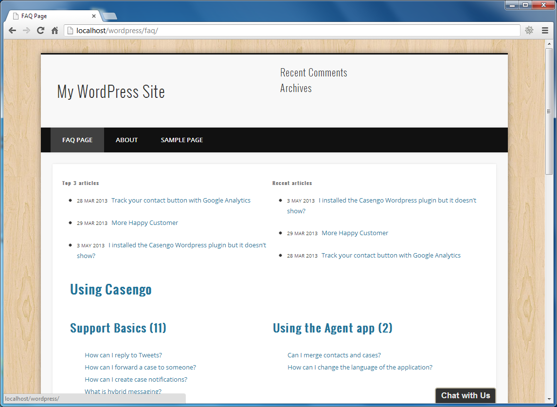 casengo-faq-web-self-service-plugin screenshot 5