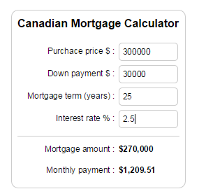cc-canadian-mortgage-calculator screenshot 2