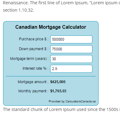 cc-canadian-mortgage-calculator screenshot 4