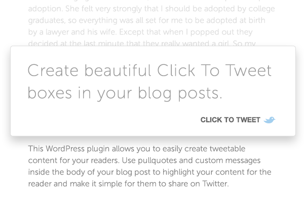 click-to-tweet-by-todaymade screenshot 1