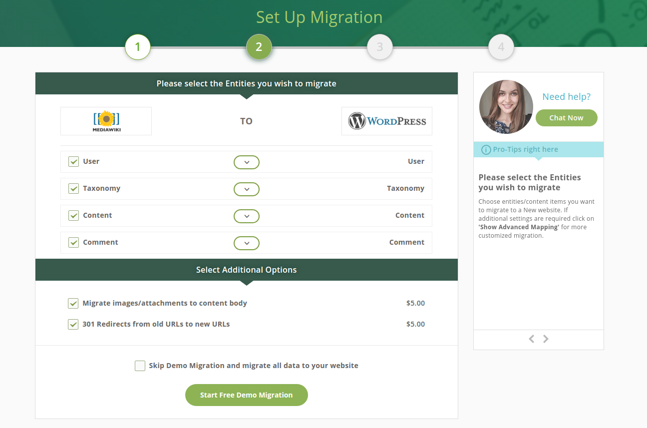 cms2cms-automated-mediawiki-to-wp-migration screenshot 3