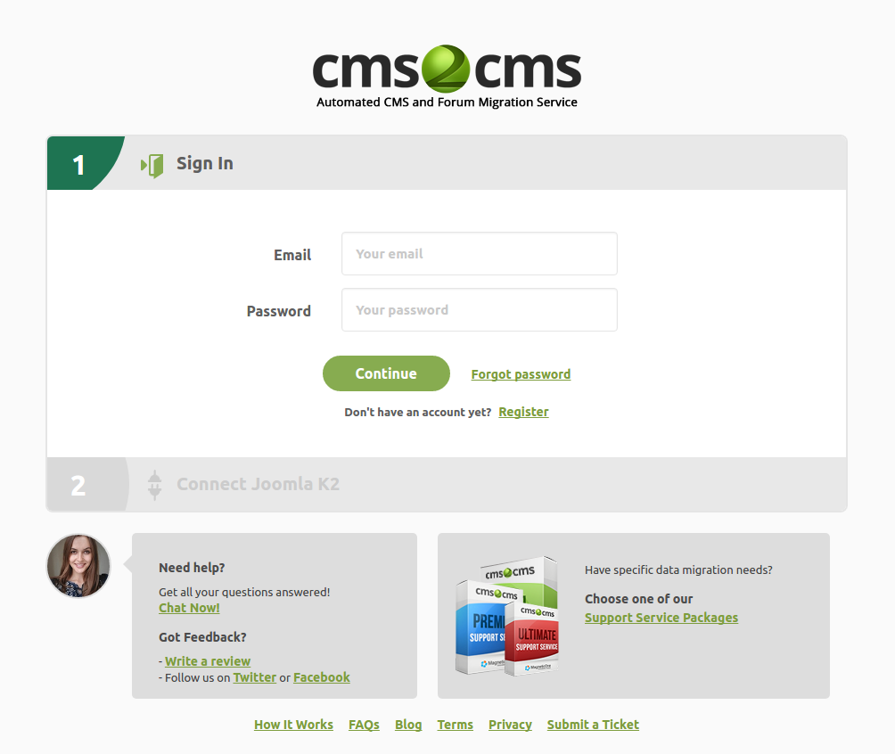 cms2cms-joomla-k2-to-wp-website-migration screenshot 1