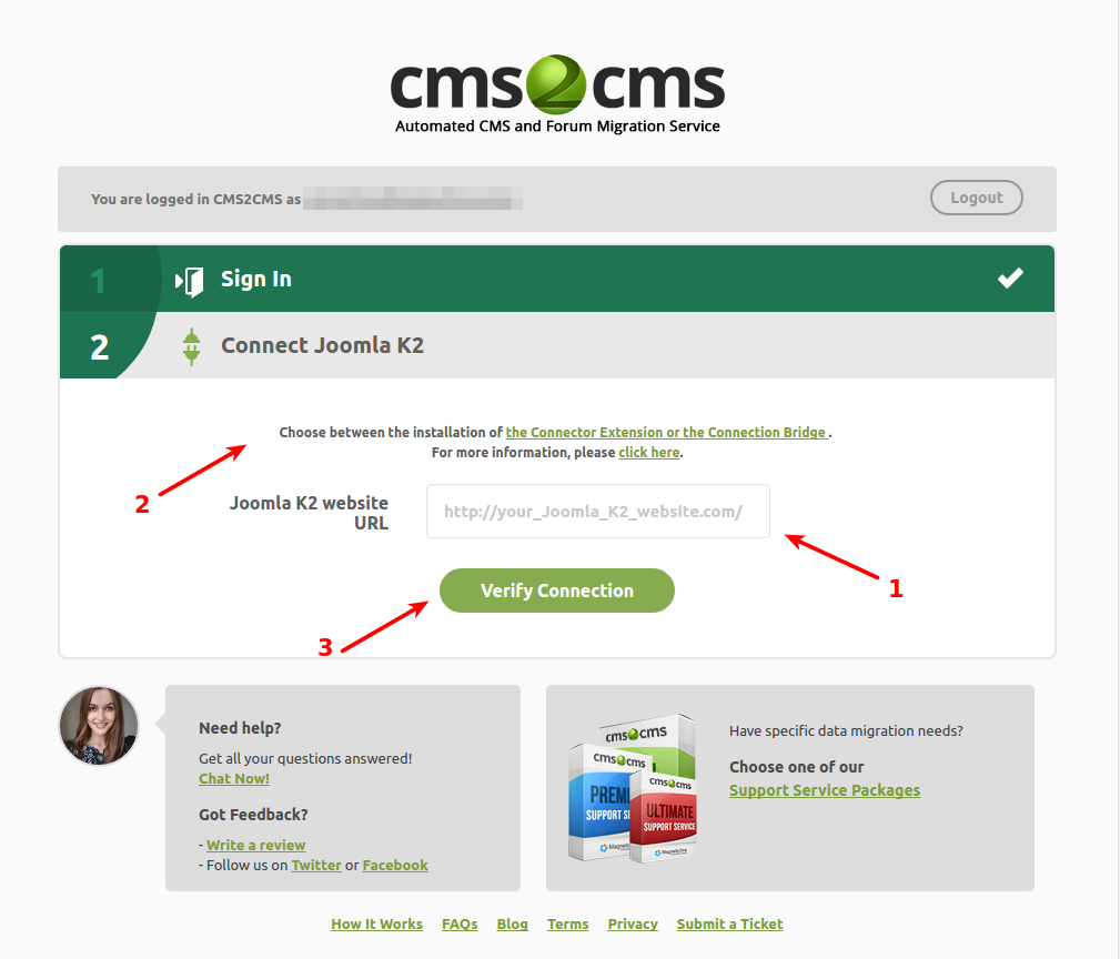 cms2cms-joomla-k2-to-wp-website-migration screenshot 2