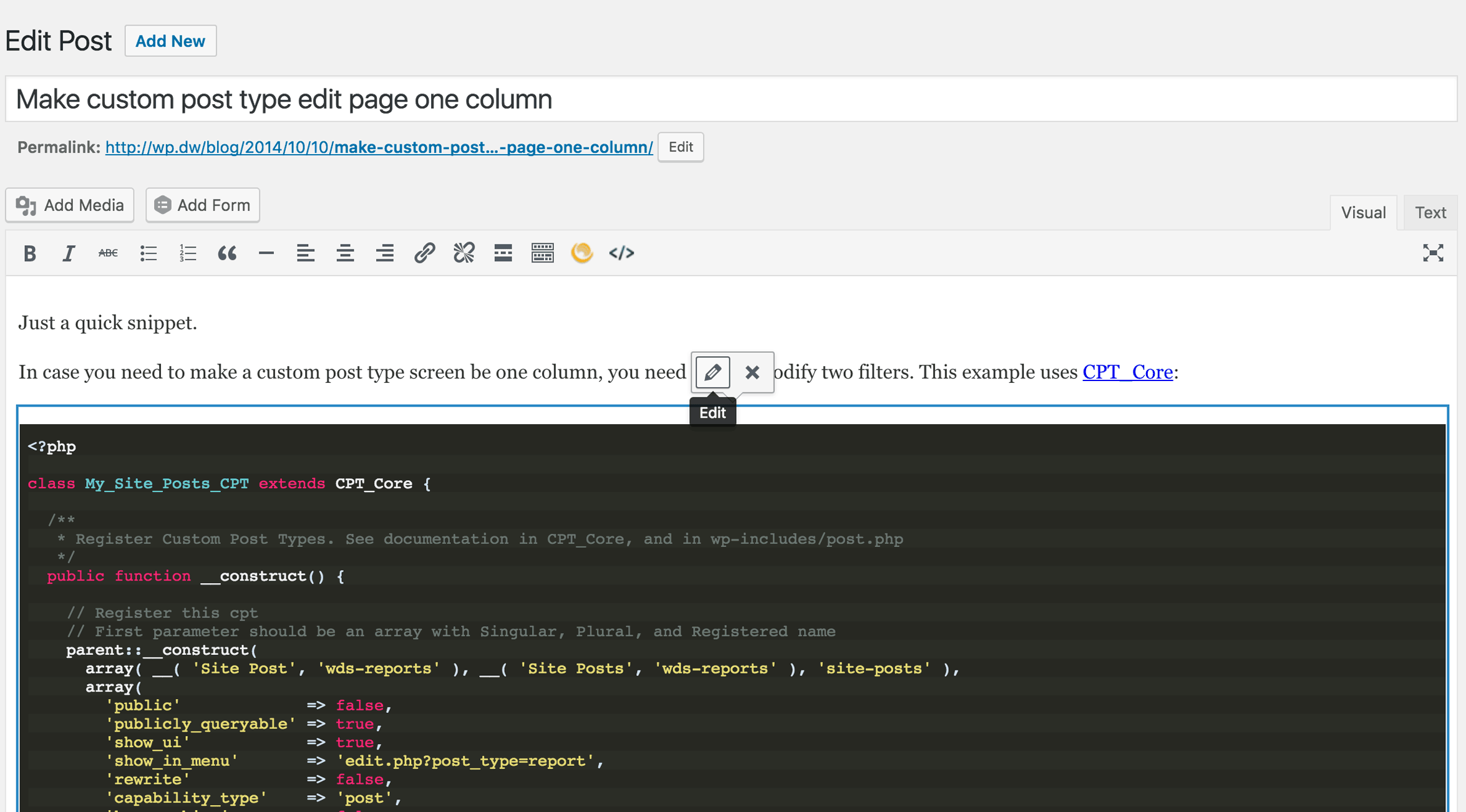 code-snippets-cpt screenshot 3