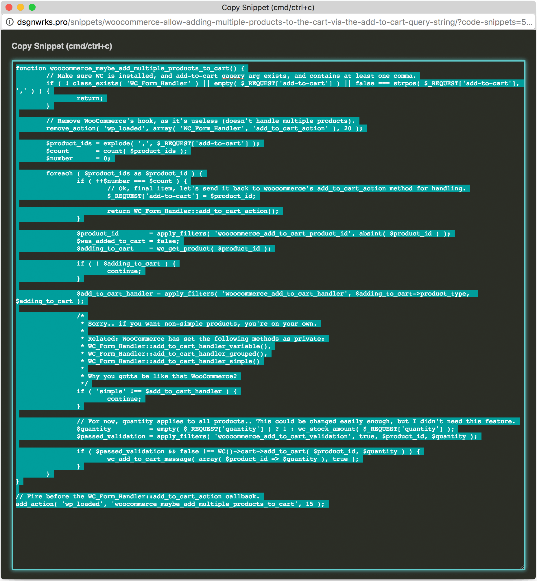 code-snippets-cpt screenshot 7