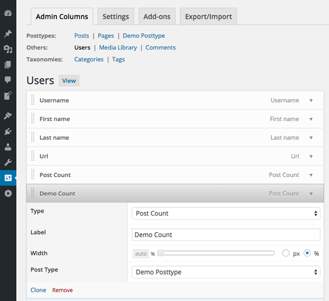 codepress-admin-columns screenshot 6