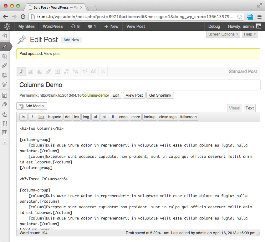 columns screenshot 2