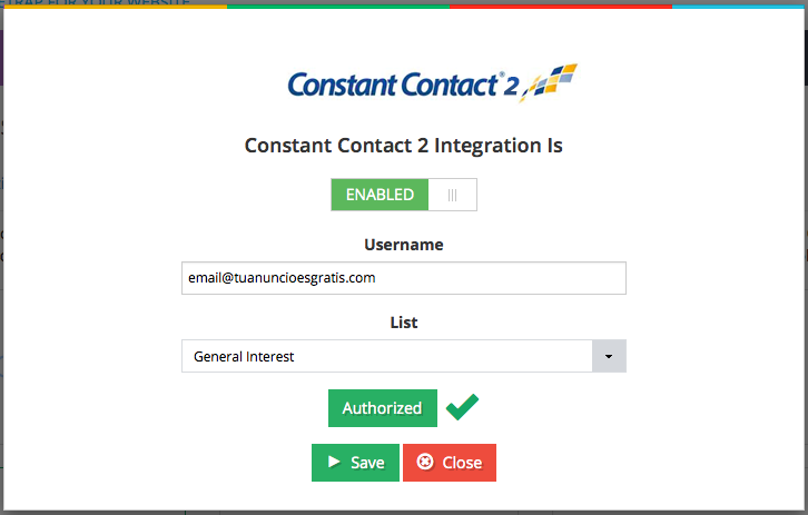 constantcontact-form screenshot 1