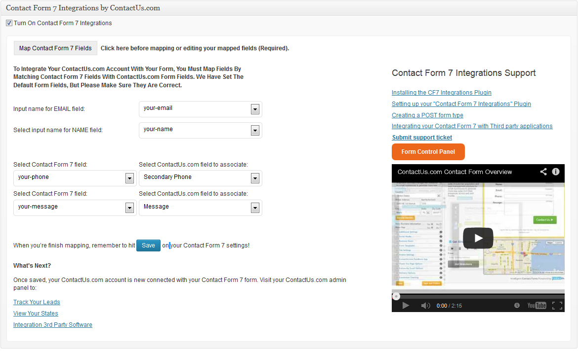 contact-form-7-integrations screenshot 1