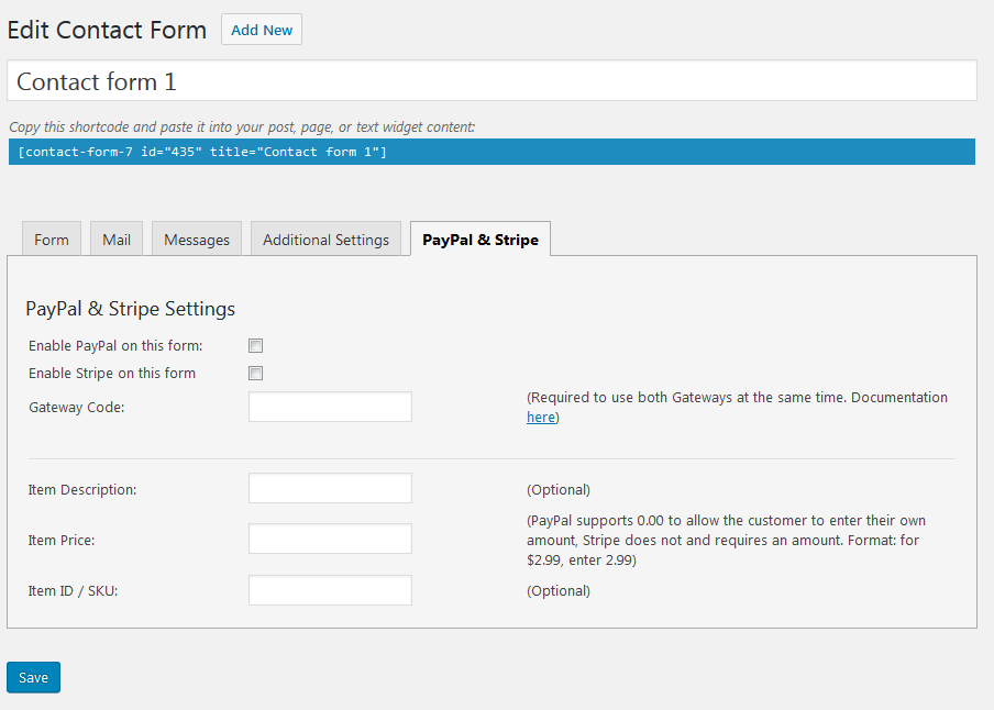 contact-form-7-paypal-add-on screenshot 1