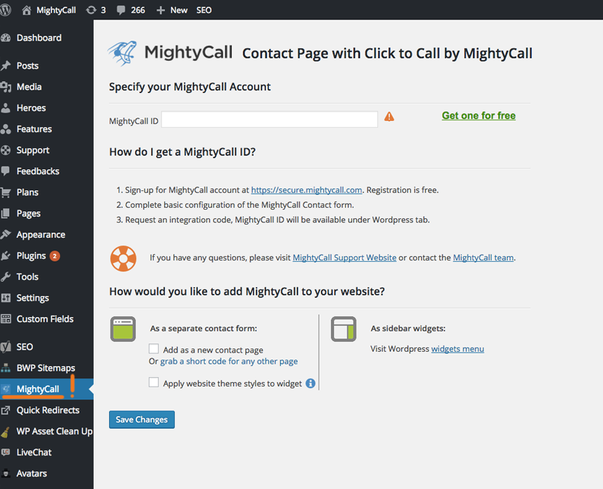 contact-page-with-click-to-call-by-mightycall screenshot 1