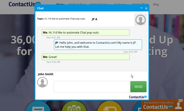 contactus-chat screenshot 1