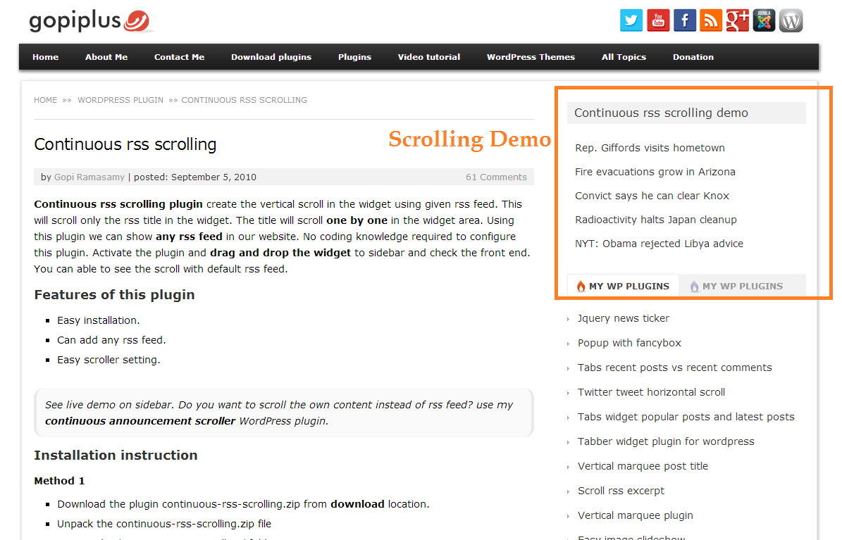 continuous-rss-scrolling screenshot 2